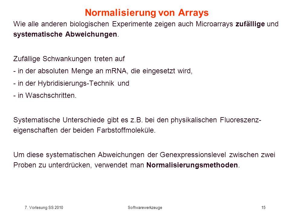 Normalisierung von Arrays