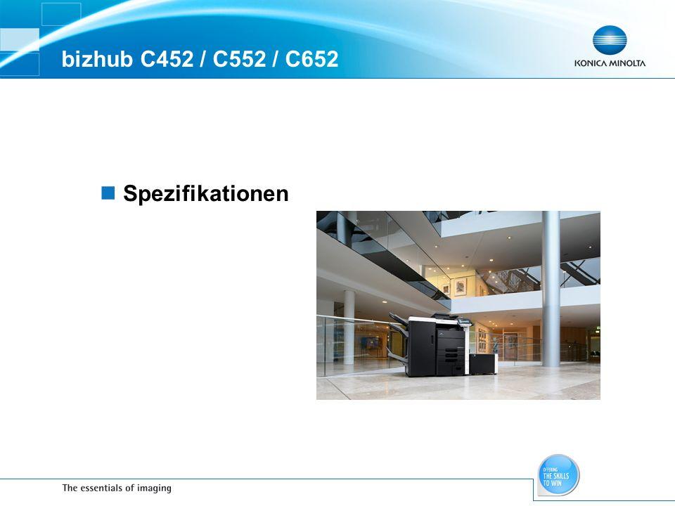 bizhub C452 / C552 / C652 Spezifikationen