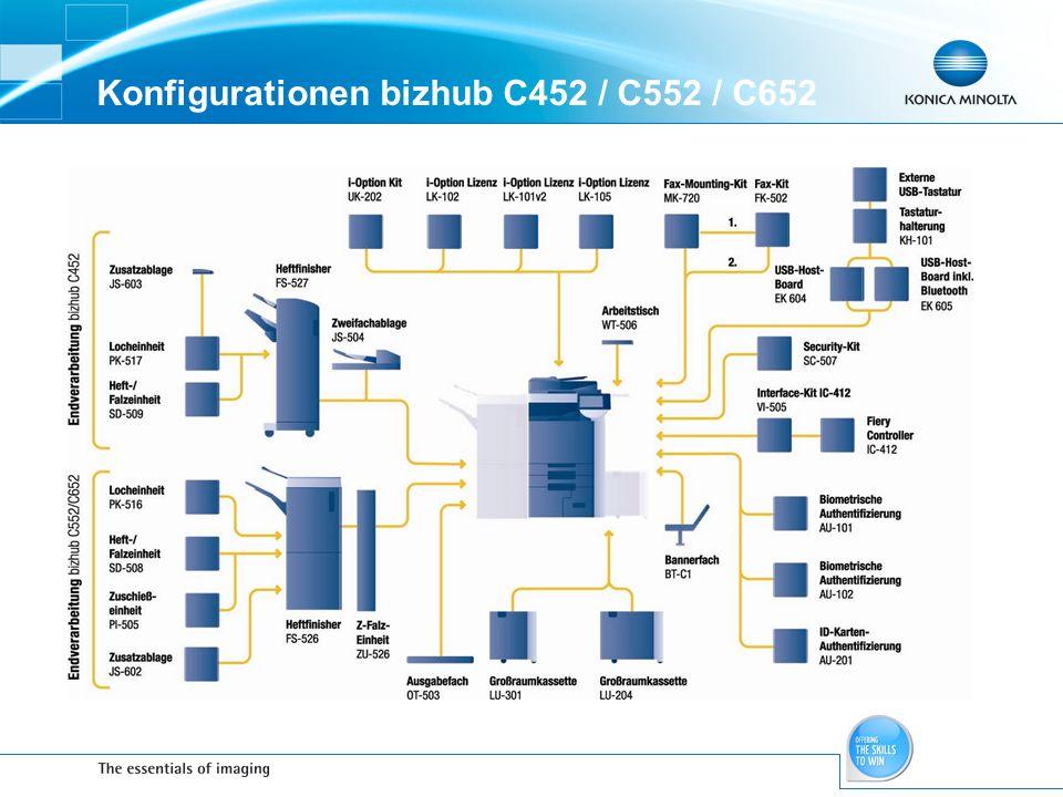 Konfigurationen bizhub C452 / C552 / C652
