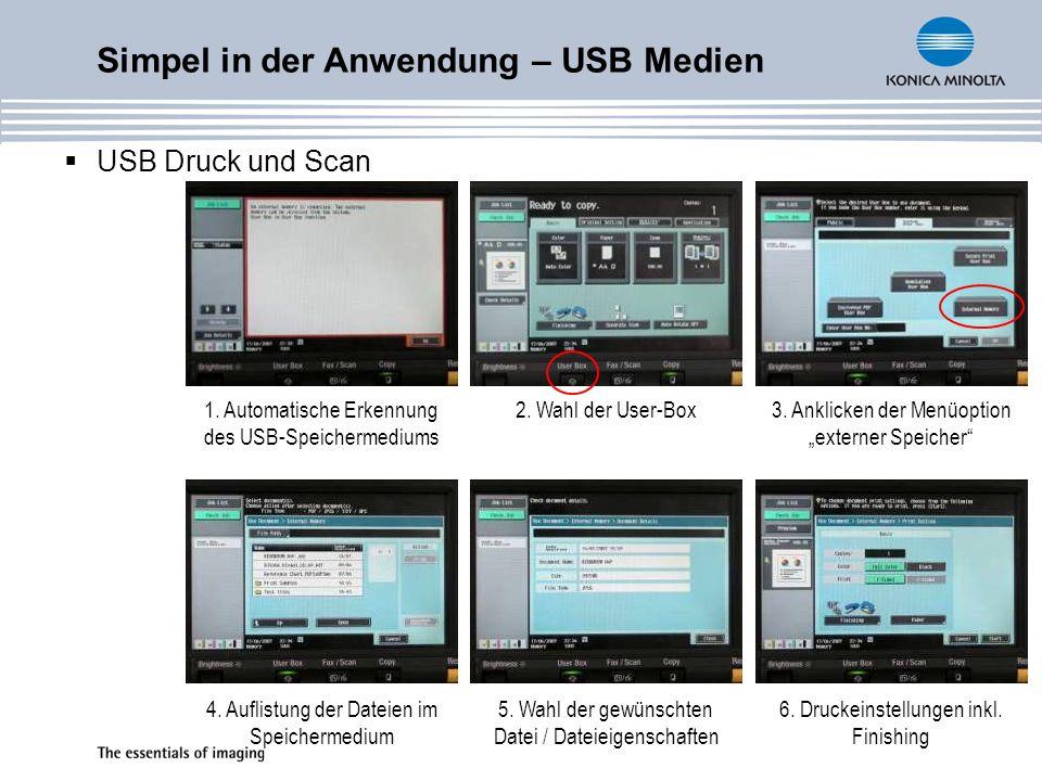Simpel in der Anwendung – USB Medien