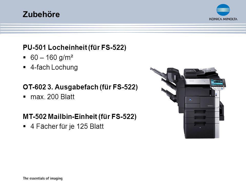 Zubehöre PU-501 Locheinheit (für FS-522) 60 – 160 g/m² 4-fach Lochung