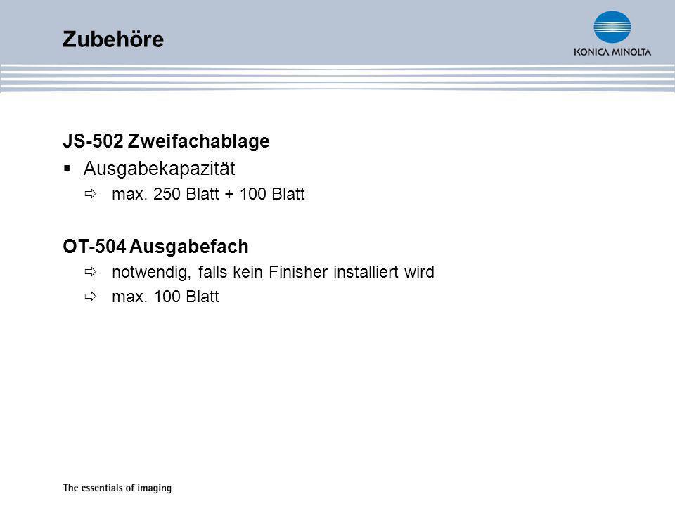 Zubehöre JS-502 Zweifachablage Ausgabekapazität OT-504 Ausgabefach