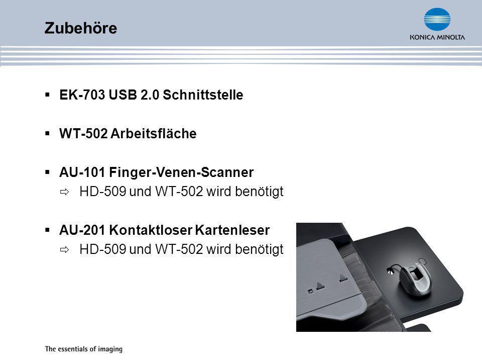 Zubehöre EK-703 USB 2.0 Schnittstelle WT-502 Arbeitsfläche
