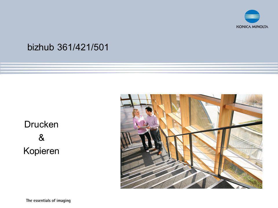 bizhub 361/421/501 Drucken & Kopieren