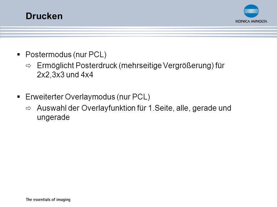 Drucken Postermodus (nur PCL)