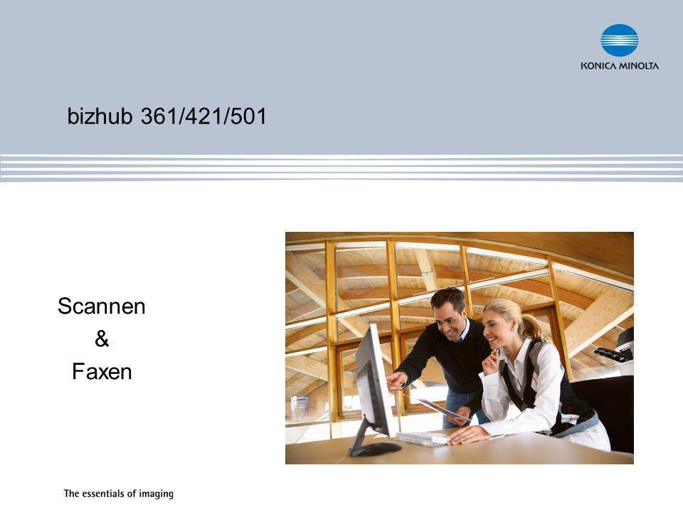 bizhub 361/421/501 Scannen & Faxen