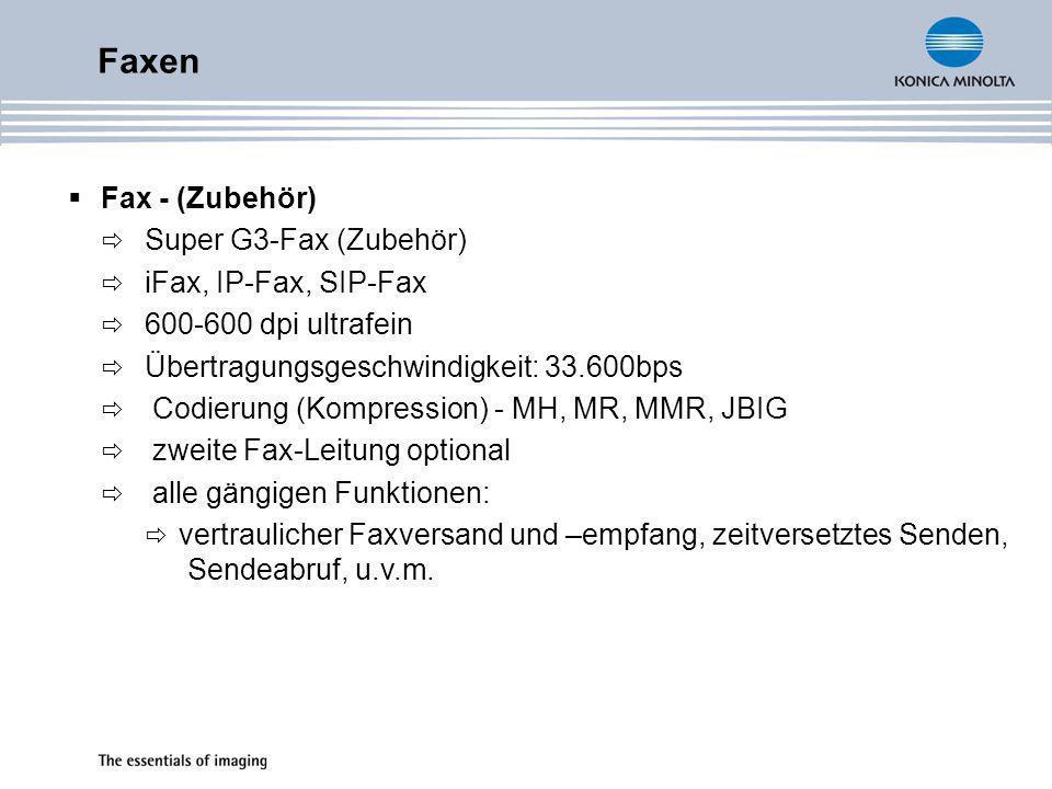 Faxen Fax - (Zubehör) Super G3-Fax (Zubehör) iFax, IP-Fax, SIP-Fax