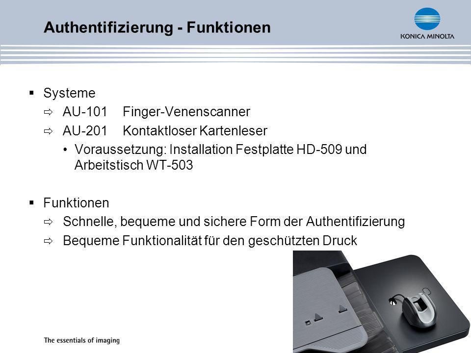 Authentifizierung - Funktionen