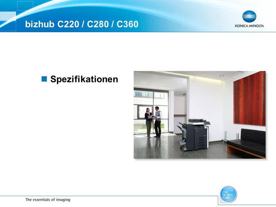 bizhub C220 / C280 / C360 Spezifikationen