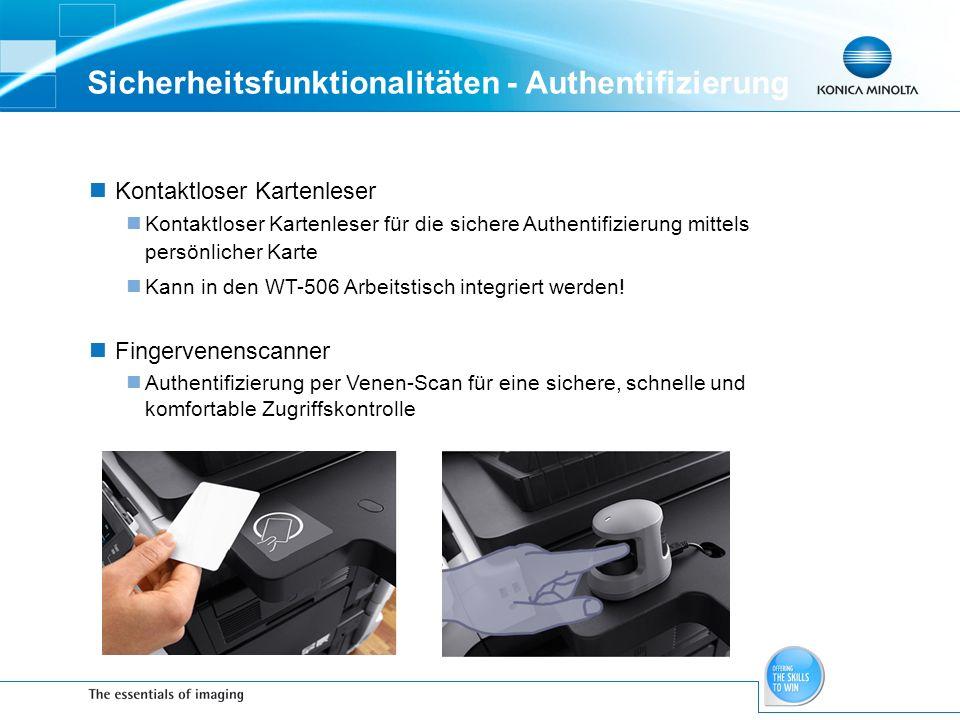 Sicherheitsfunktionalitäten - Authentifizierung