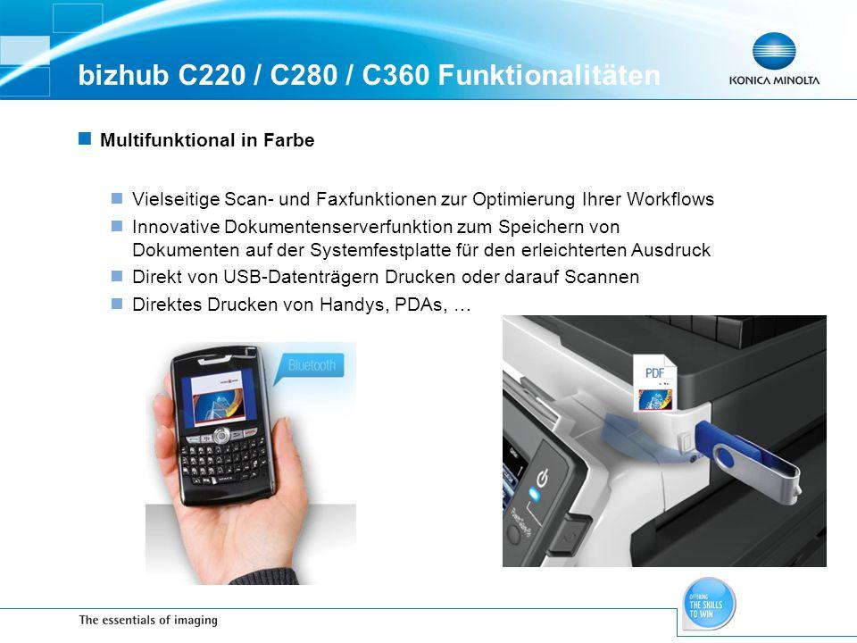 bizhub C220 / C280 / C360 Funktionalitäten