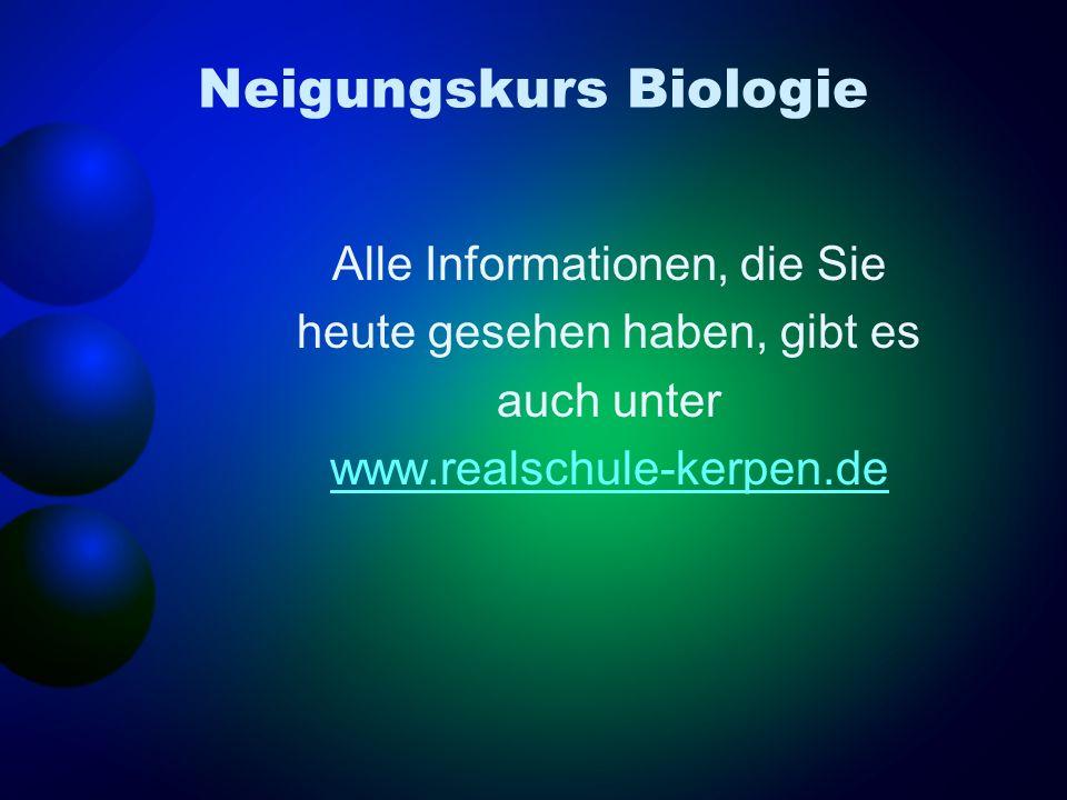 Neigungskurs Biologie