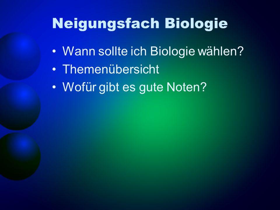 Neigungsfach Biologie