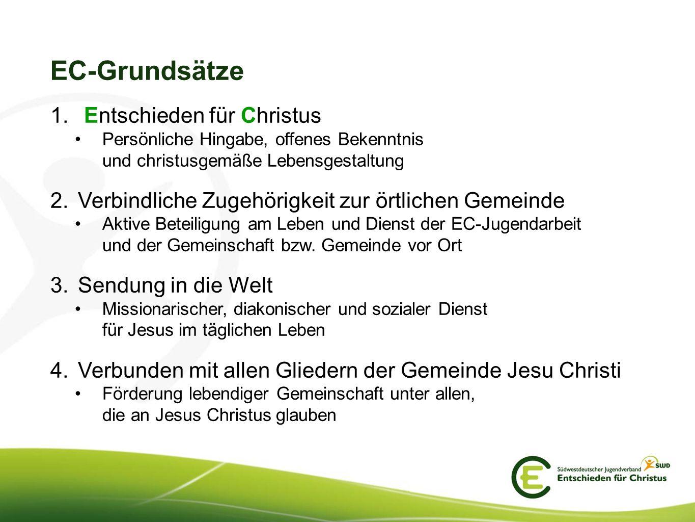 EC-Grundsätze Entschieden für Christus