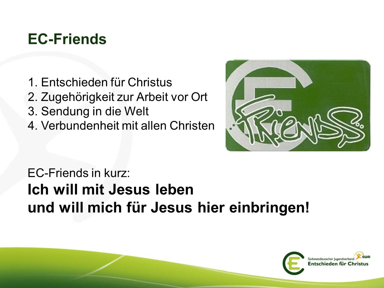 Ich will mit Jesus leben und will mich für Jesus hier einbringen!
