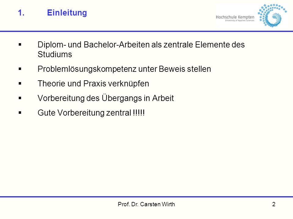 Diplom- und Bachelor-Arbeiten als zentrale Elemente des Studiums