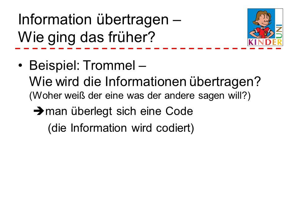 Information übertragen – Wie ging das früher