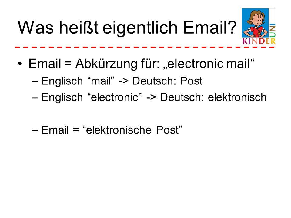 Was heißt eigentlich Email