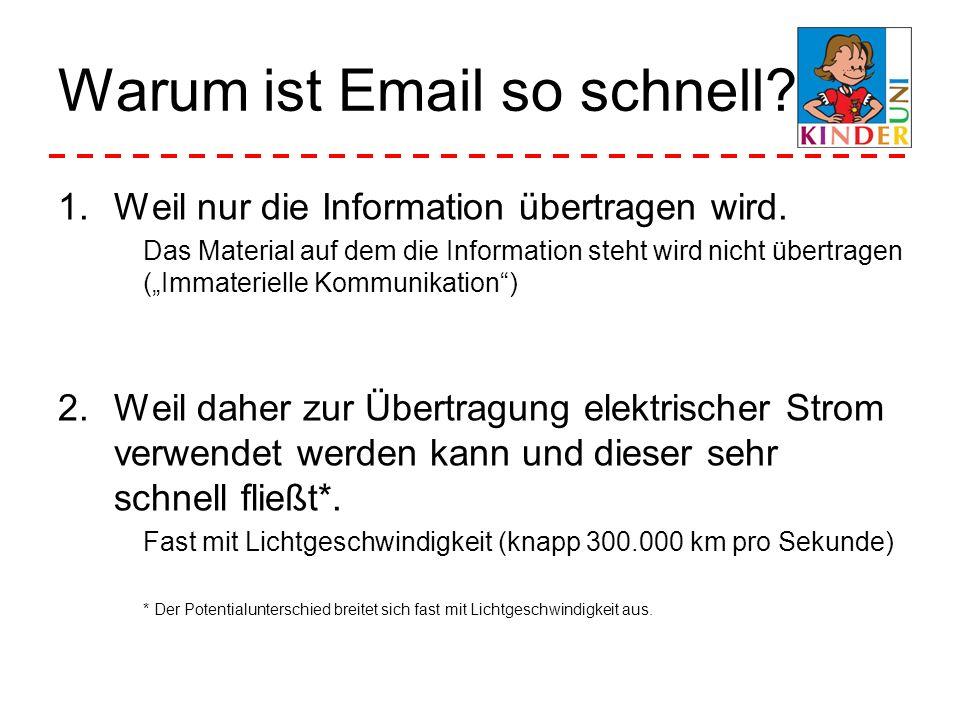 Warum ist Email so schnell