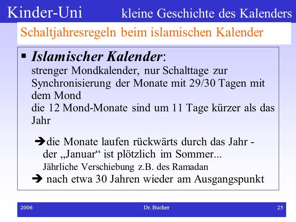 Schaltjahresregeln beim islamischen Kalender