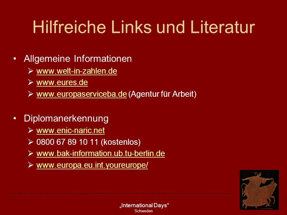 Hilfreiche Links und Literatur