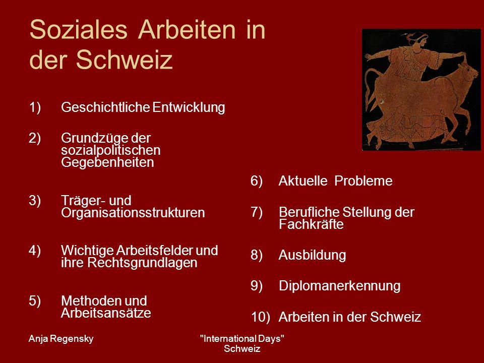 Soziales Arbeiten in der Schweiz