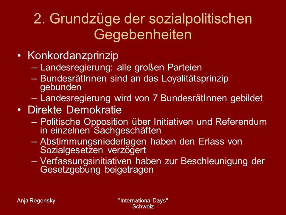 2. Grundzüge der sozialpolitischen Gegebenheiten