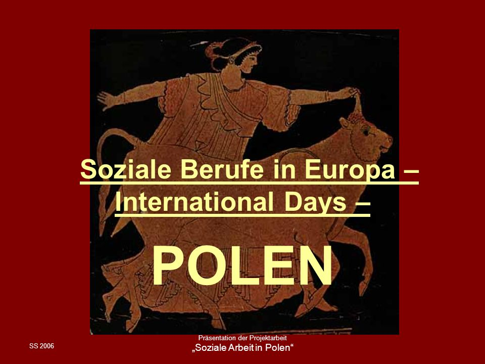 """Soziale Berufe in Europa – International Days –"
