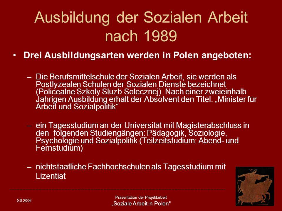 Ausbildung der Sozialen Arbeit nach 1989