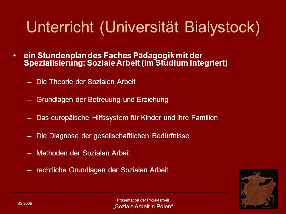 Unterricht (Universität Bialystock)