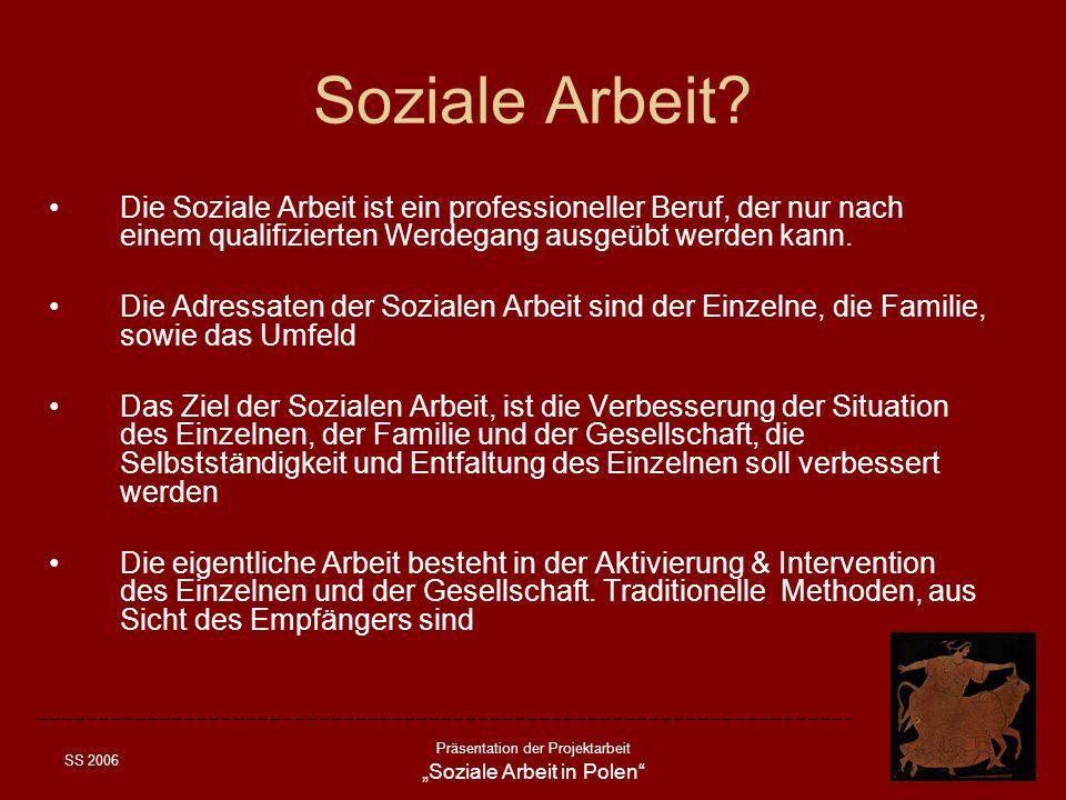 Soziale Arbeit Die Soziale Arbeit ist ein professioneller Beruf, der nur nach einem qualifizierten Werdegang ausgeübt werden kann.