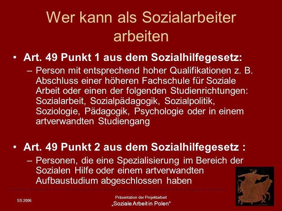 Wer kann als Sozialarbeiter arbeiten