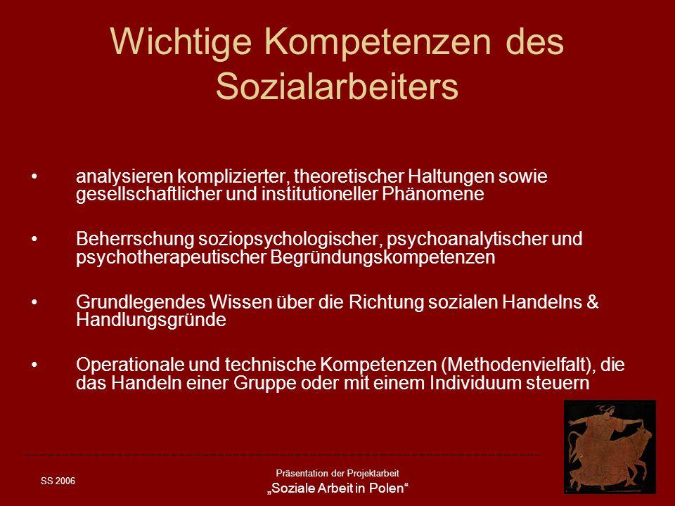 Wichtige Kompetenzen des Sozialarbeiters