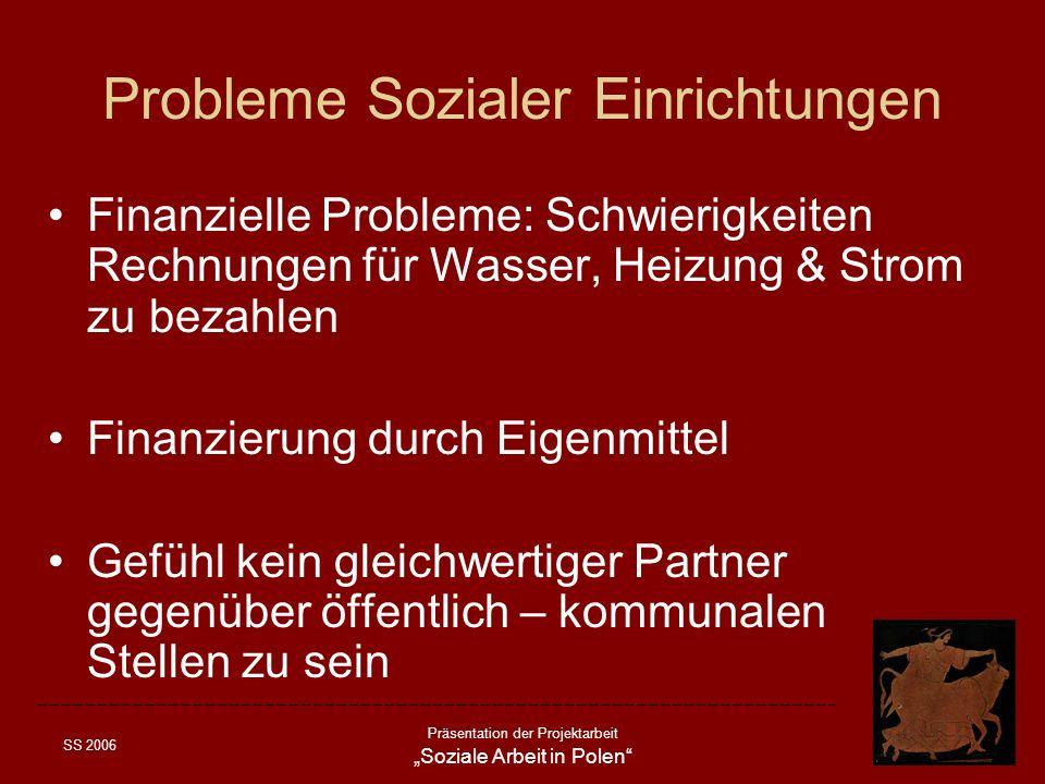 Probleme Sozialer Einrichtungen