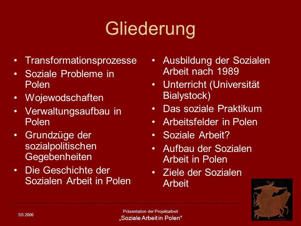 Gliederung Transformationsprozesse Soziale Probleme in Polen
