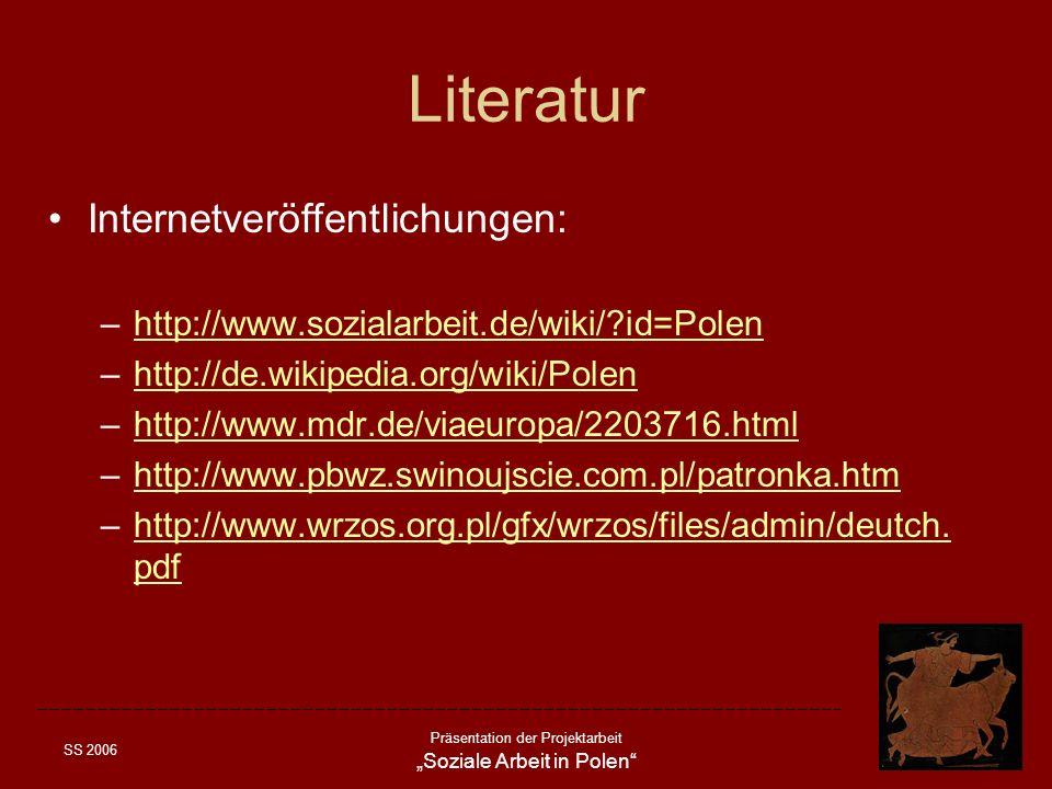 Literatur Internetveröffentlichungen: