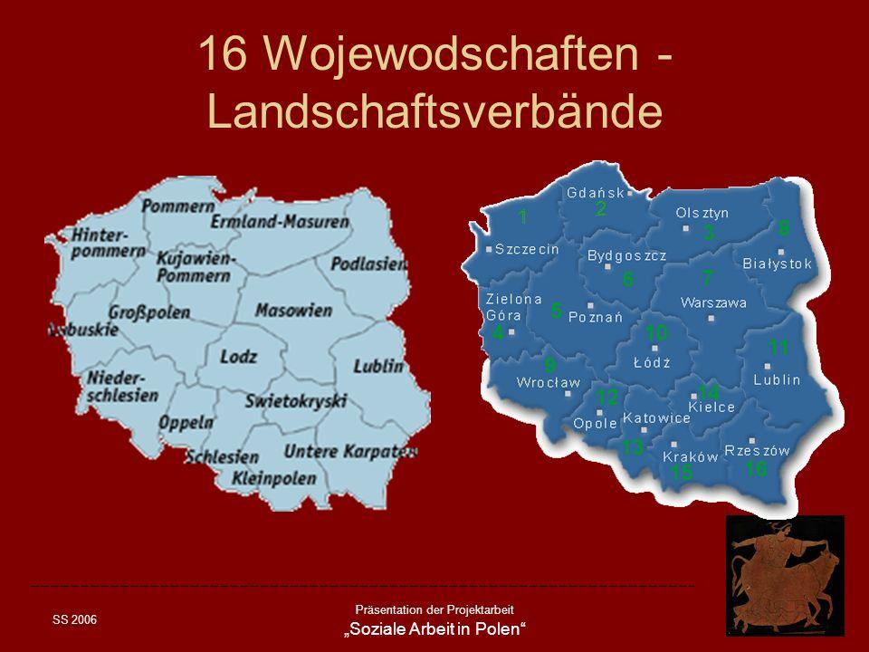 16 Wojewodschaften - Landschaftsverbände
