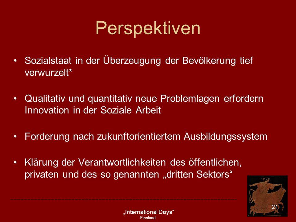 Perspektiven Sozialstaat in der Überzeugung der Bevölkerung tief verwurzelt*