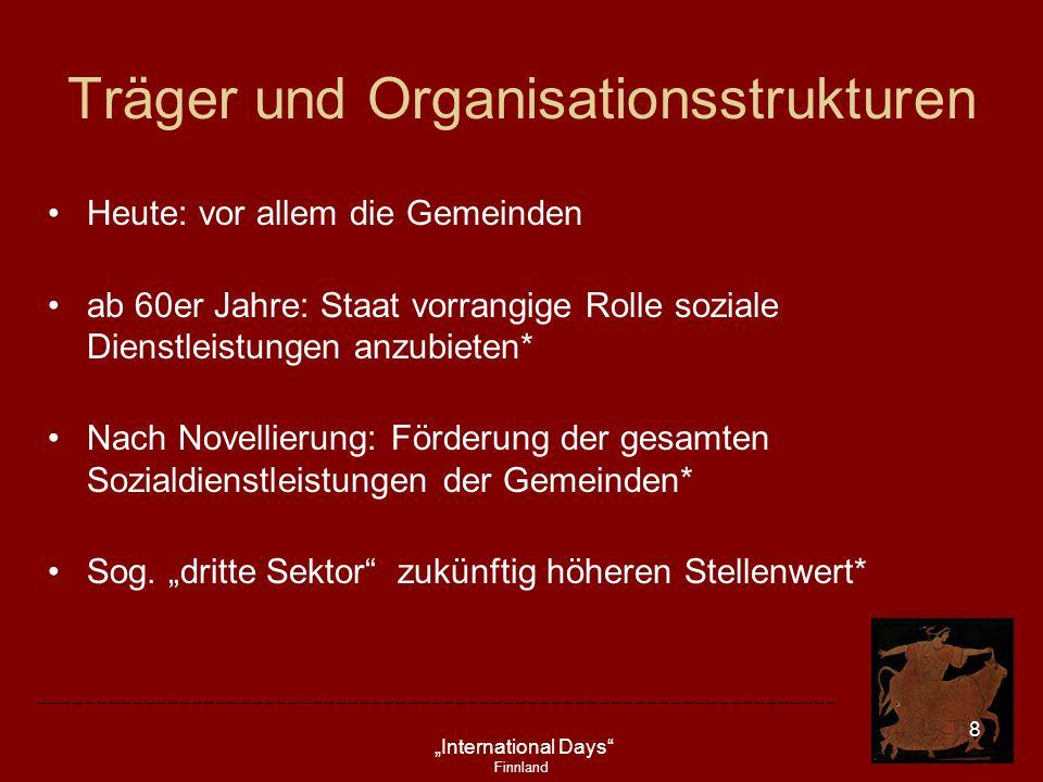 Träger und Organisationsstrukturen