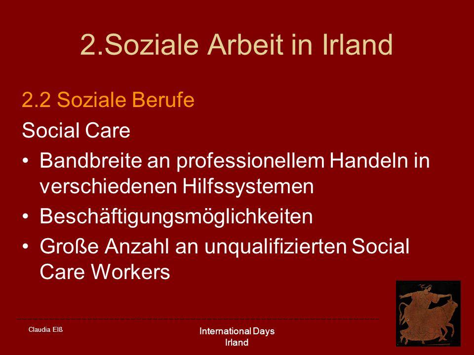 2.Soziale Arbeit in Irland