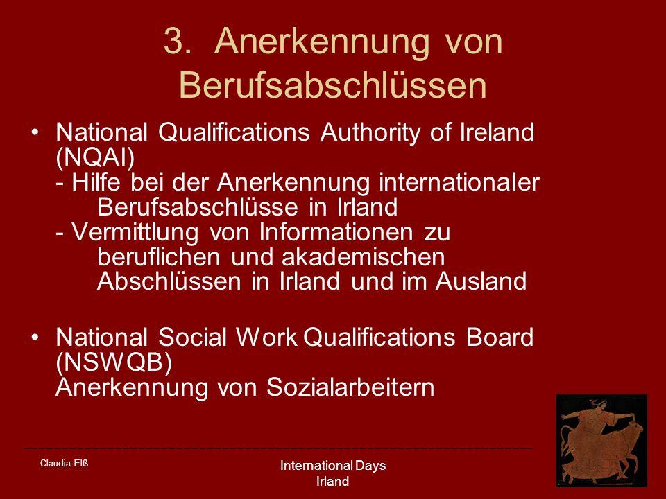 3. Anerkennung von Berufsabschlüssen