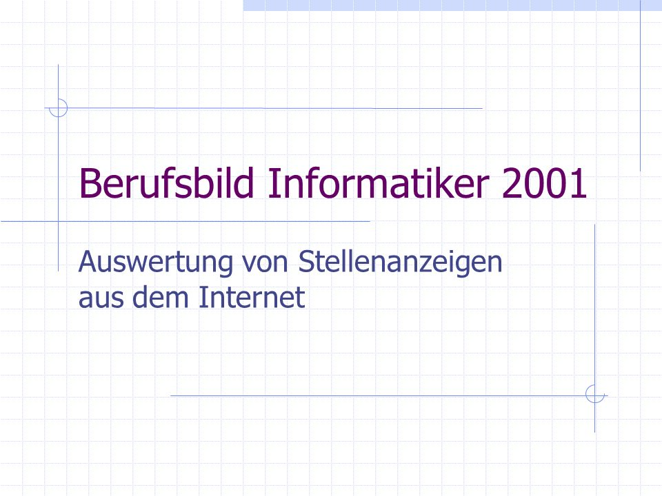 Berufsbild Informatiker 2001