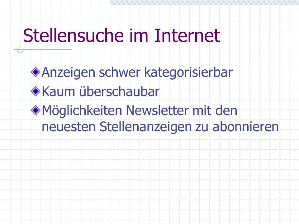 Stellensuche im Internet