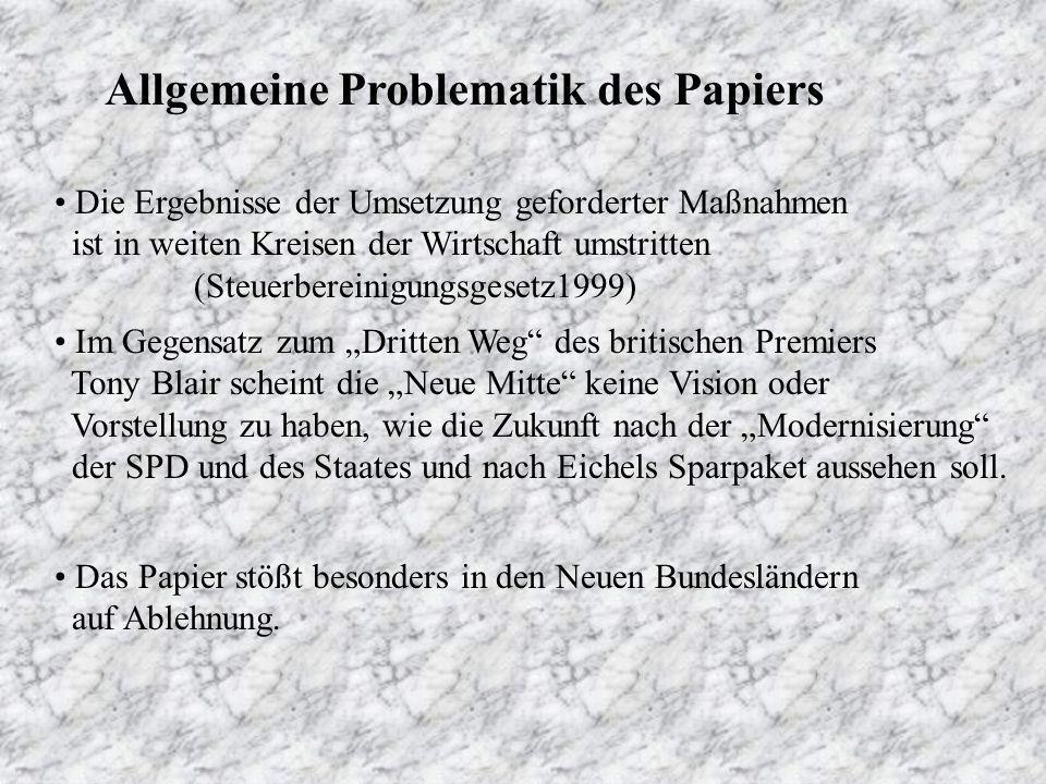 Allgemeine Problematik des Papiers