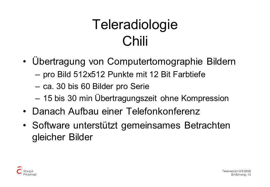 Teleradiologie Chili Übertragung von Computertomographie Bildern