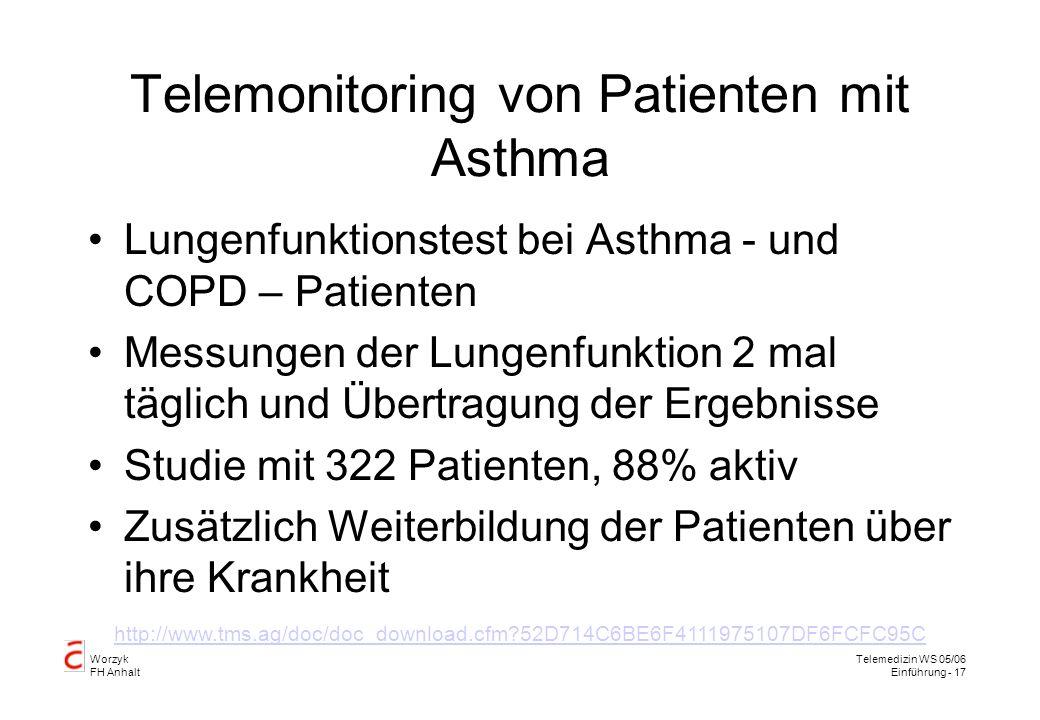 Telemonitoring von Patienten mit Asthma