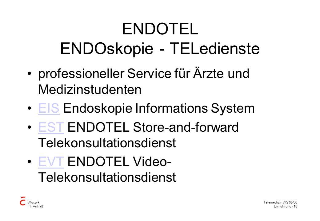 ENDOTEL ENDOskopie - TELedienste