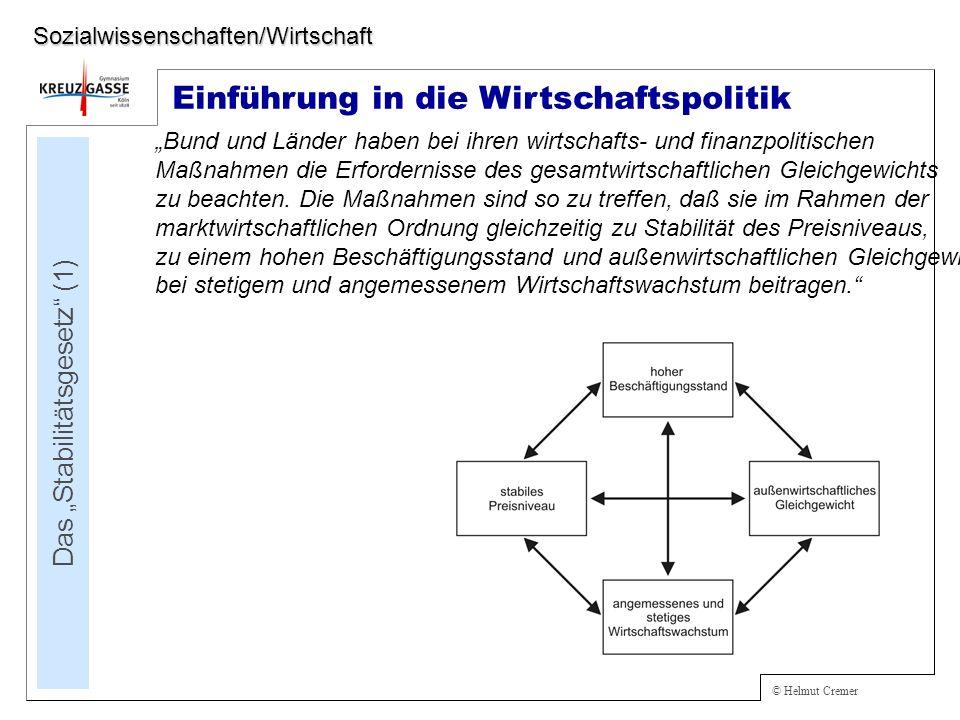 """Das """"Stabilitätsgesetz (1)"""