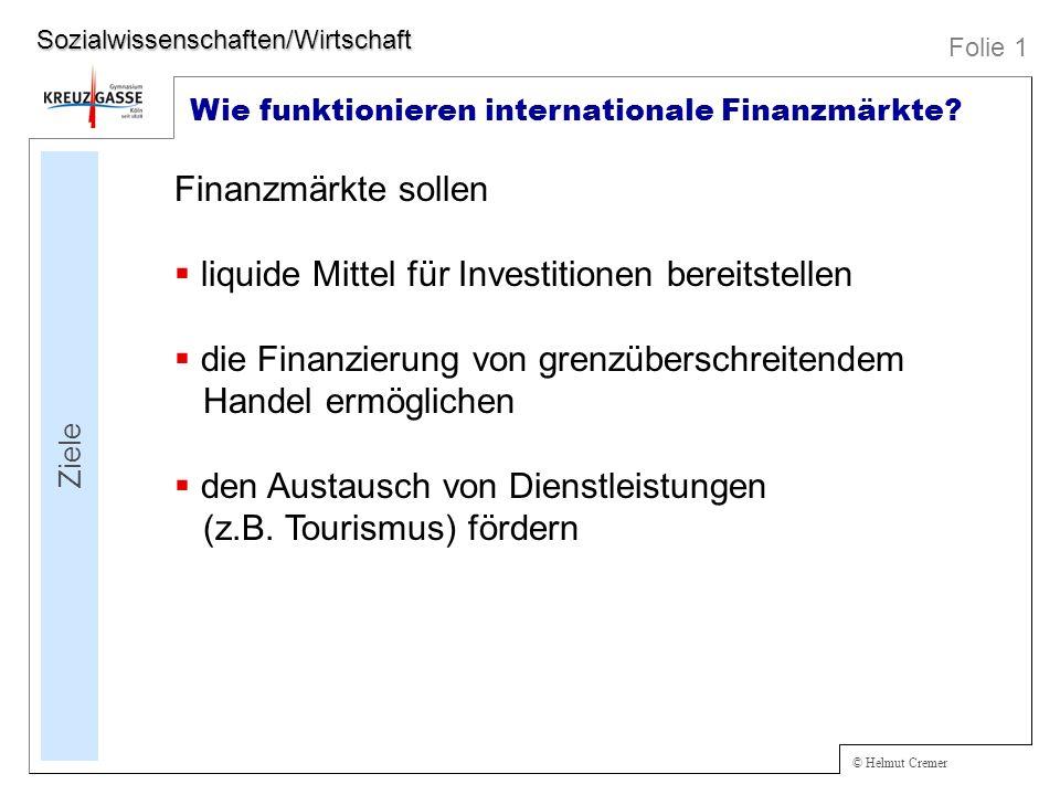 liquide Mittel für Investitionen bereitstellen