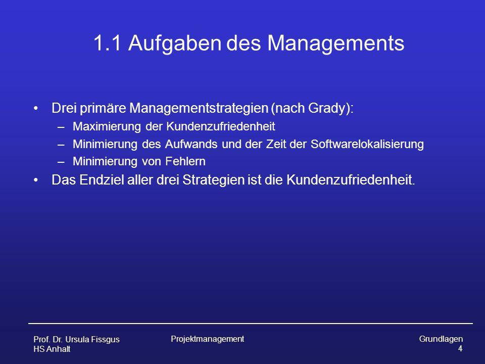 1.1 Aufgaben des Managements